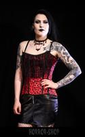Leopard corset, red