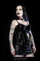 Black PVC corset