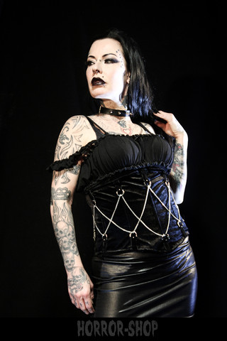 Sinister half corset with chains, koko S-M