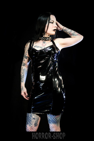 PVC dress black (basic), size S