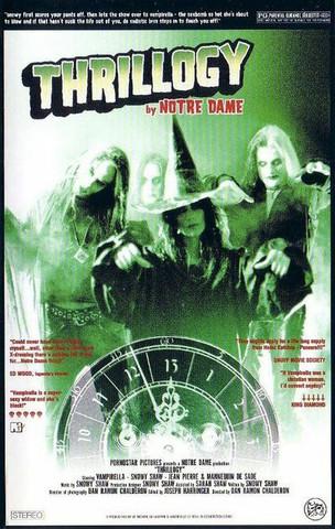 Notre Dame  – Thrillogy (VHS, uusi)
