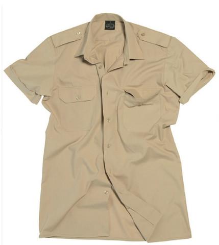 Khaki short sleeve service shirt