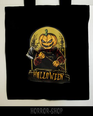 Murder pumpkin -shopping bag