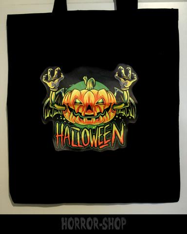 Creepy halloween -shopping bag