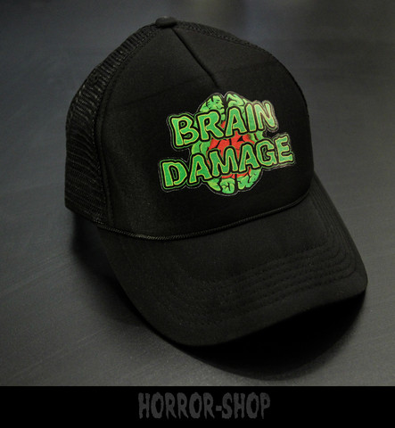 Brain damage trucker cap