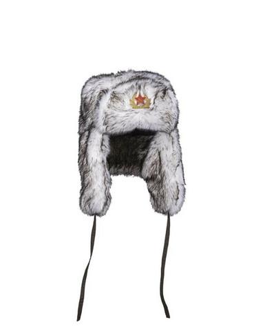 RUSSIAN WHITE SHAPKA WINTER CAP