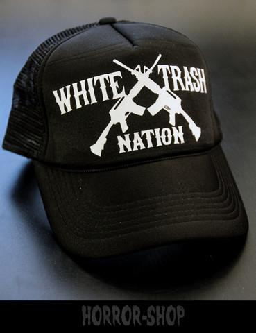 White trash nation trucker cap