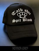Talk shit, Spit blood trucker cap