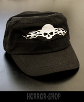 Skull and flames-army cap