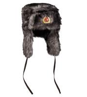 RUSSIAN BLACK SHAPKA WINTER CAP