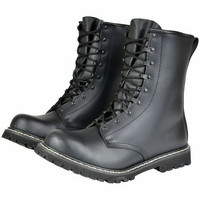 PARA LEATHER BOOTS WITH TOE CAP