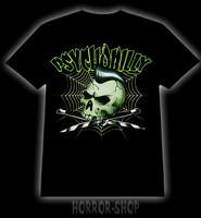 PsychoBilly Green Skull