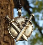WARRIOR TALISMAN, viking shield and swords