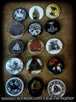 puttons collection 34mm Asatru/viking (15pc.)