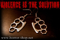 brass knuckles earrings