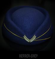 Lentoemännän hattu, retro, sininen
