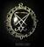 Sigil of Lucifer black camee, big, metal colour