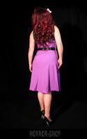 Violet dress with black up part