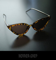 Leopard retro cat eye sunglasses