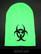 Biohazard beanie, neon green