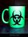 Biohazard (mug) neon green