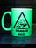 Danger-Acid (mug) neon green