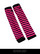 Black and rosered striped fingerless long wristband
