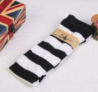 Black and white striped Knee socks