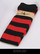Black and red striped Knee socks