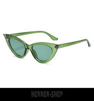 Green/glass retro cat eye sunglasses