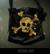 Sinister skul and bones handbag