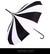 Black/White umbrella