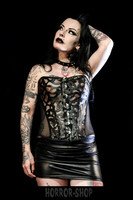 Fishnet corset with ornaments, size M