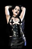 Black PVC corset, topless size M
