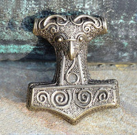 THOR HAMMER, Sweden, Pewter pendant Bronze colour