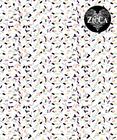 Confetti luomutrikoo valkoinen - moniväri