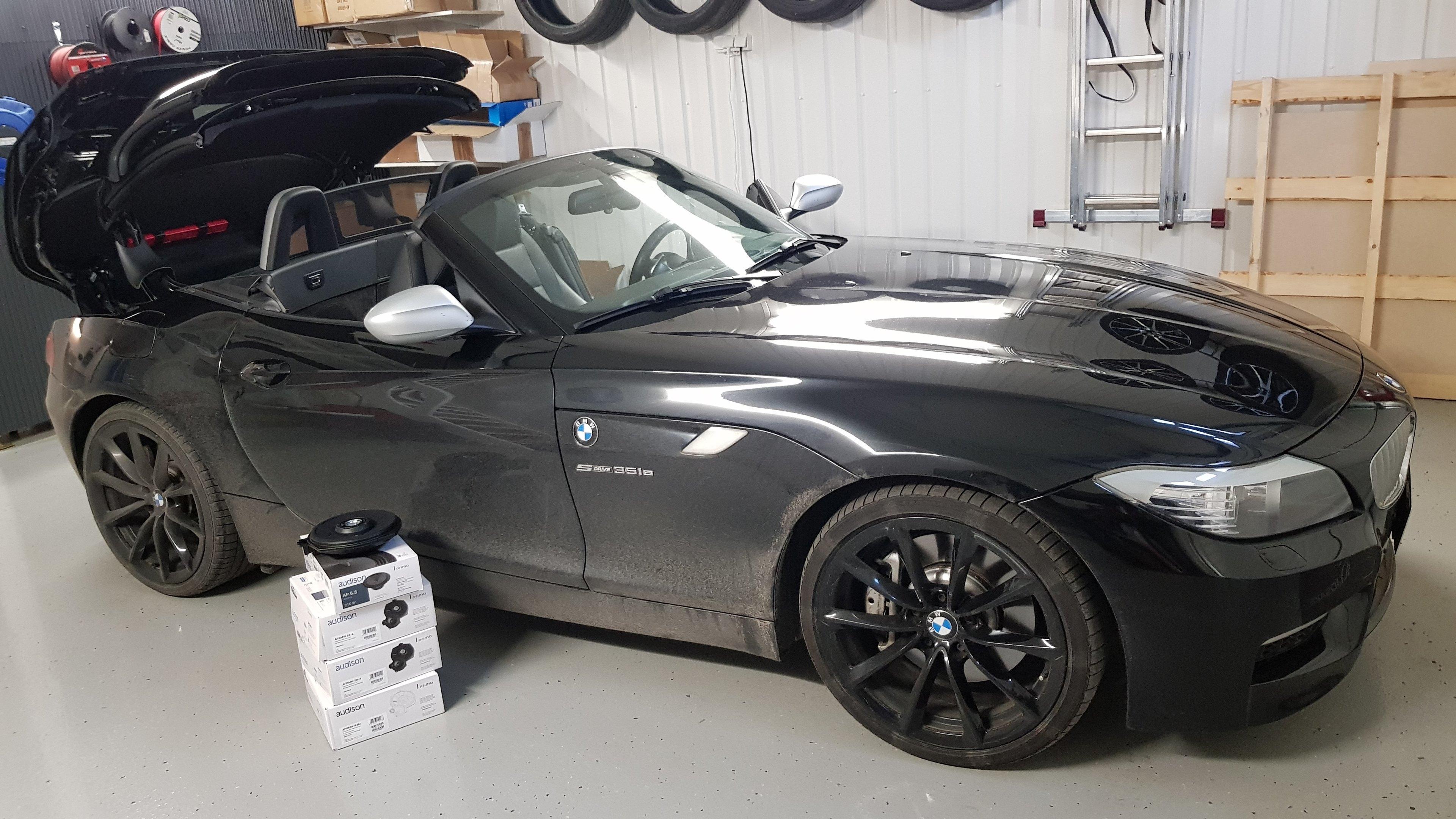 BMW Z4 E89 Top HiFi Audison kaiutinpäivitys