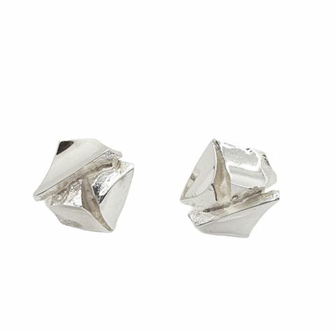 Vintage silver earrings Silver Rose