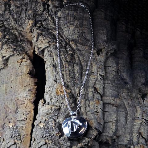 Vintage silver pendant Lily