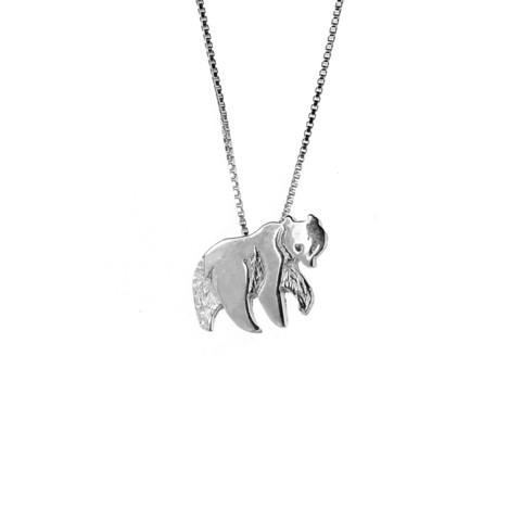 Eco silver pendant Little Bear