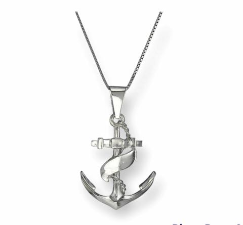 Anchor pendant eco silver