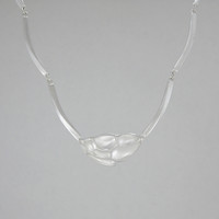 Silver Necklace Windswept Snow II