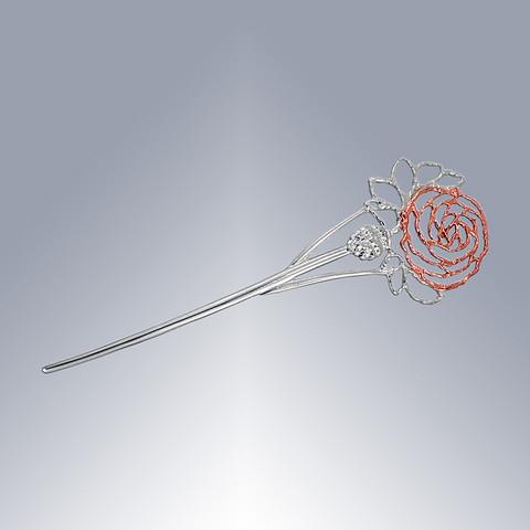Äitienpäivä-ruusu rintaneula rosé-hopeisin terälehdin
