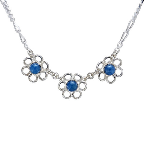 Silver necklace Meadow Flowers