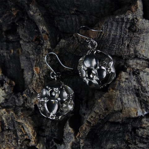 Vintage silver earrings Bacchanal