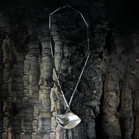 Vintage silver pendant Boat