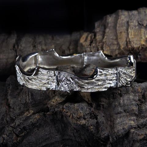 Vintage silver bracelet Freezing February