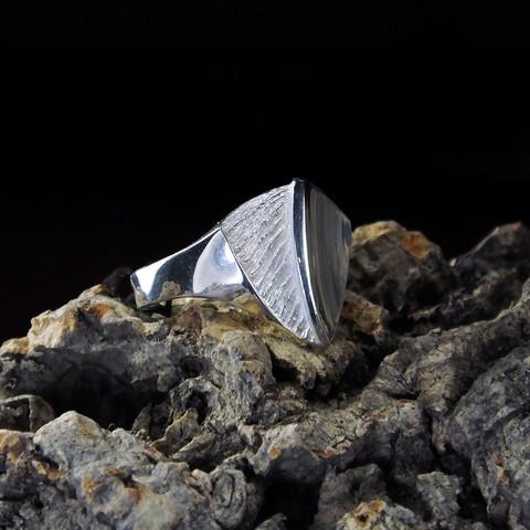 Vintage silver ring Sky Mirror