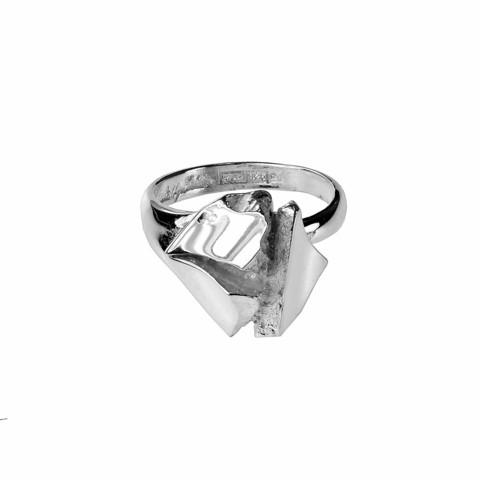 Vintage ring Silver Rose