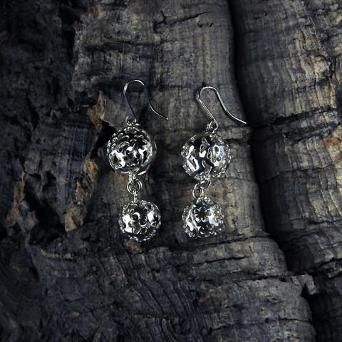 Silver earrings Meadow Flowers
